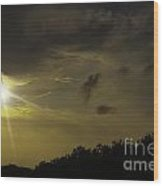Sunset Radiance Wood Print