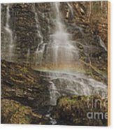 Sunset Rainbow At Amicalola Falls Wood Print