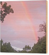 Sunset Rainbow Wood Print