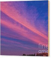 Sunset Rays Wood Print