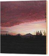 Sunset Rich Wood Print