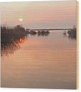 Sunset  River Panorama Wood Print by Vitaliy Gladkiy