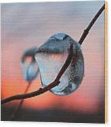 Sunset River Tears Wood Print