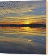Sunset Riverlands West Alton Mo Dsc03329 Wood Print