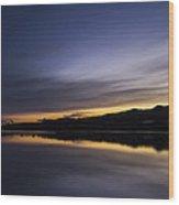 Sunset Riverscape Wood Print