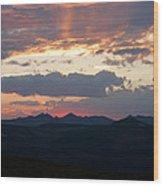 Sunset Rmnp Wood Print