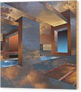 Sunset Room Wood Print