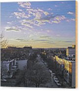 Sunset Row Homes Wood Print
