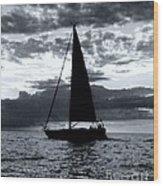 Sunset Sailing -2 Wood Print