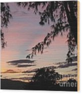 Sunset Sainte Marie-reunion Island-indian Ocean Wood Print by Francoise Leandre