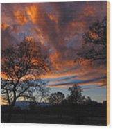 Sunset September 24 2013 Wood Print