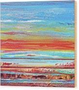 Sunset Series Druridge Bay 1c Wood Print by Mike   Bell