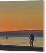 Sunset Silhouettes Wood Print