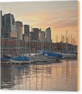 Buenos Aires Sunset Wood Print