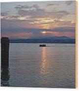 Sunset. Sirmione. Lago Di Garda Wood Print