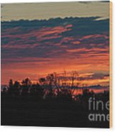 Sunset Sky Wood Print