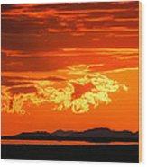 Sunset Sky Fire Wood Print