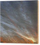 Sunset Sky With Cirrocumulus Clouds Usa Wood Print