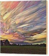 Sunset Spectrum Wood Print by Matt Molloy