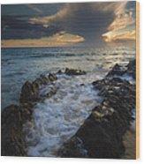 Sunset Spillway Wood Print