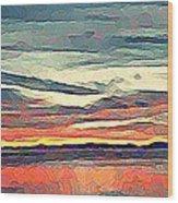Davis Bay Sunset  Wood Print