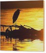 Sunset Still Wood Print