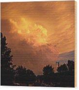 Sunset Storm Wood Print