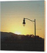Sunset Street Light Wood Print