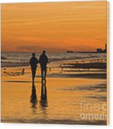 Sunset Stroll Wood Print by Al Powell Photography USA