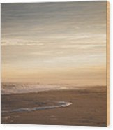 Sunset Stroll By The Sea Wood Print