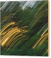 Sunset Swipe Wood Print