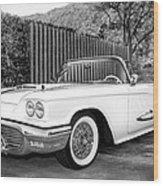 Sunset Thunderbird Bw Palm Springs Wood Print