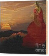 Sunset Tinic Wood Print
