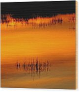 Sunset Tupper Lake Wood Print