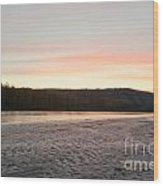 Sunset Twilight Over Taiga At Yukon River Canada Wood Print