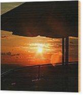 Sunset Under The Umbrella By Diana Sainz Wood Print