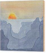 Sunset Valley Wood Print