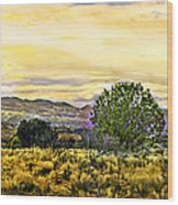 Sunset Verde Valley Thousand Trails Wood Print