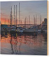 Sunset View From Charleson Park In Vancouver Bc Wood Print