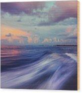 Sunset Wave. Maldives Wood Print