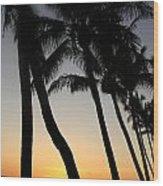 Sunset West Coast Of Maui Wood Print