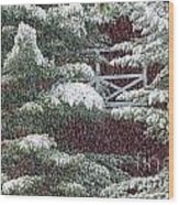 Sunset While Raining Over Mt. Mansfield Stowe Vermont Wood Print