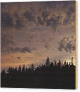 Sunset Wood Print by Yvette Pichette