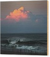Sunseting Clouds Wood Print