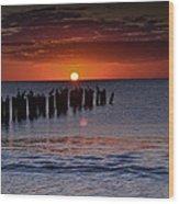 Sunset...naples Style Wood Print