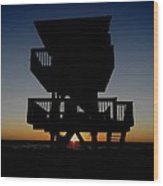 Sunsets Days End Wood Print