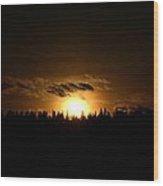 Sunsets On The Douglas Lake Range Wood Print