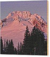 Sunsetting On Mount Hood Oregon 1 Wood Print