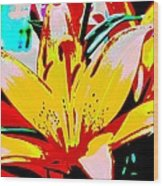Sunshine And Flowers Wood Print