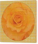 Sunshine Begonia Wood Print